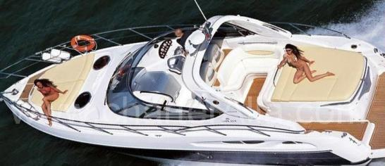 Sunbathing-on-board-39-Cranchi-Endurance-speed-boat-for-renting-in-Ibiza-with-captain
